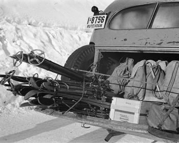 Ski på rutebil 1948
